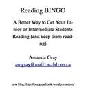 Reading BINGO - Junior/Intermediate Grades (Editable - Doc File)