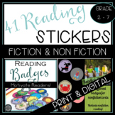 Reading Badge Bundle for Fiction and Nonfiction Independent Reading Challenge