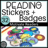 Genre Stickers Reading Badges to Motivate Independent Reading Challenge