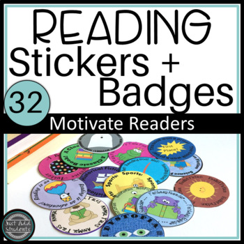 Reading Badges:  Genre Stickers Motivate Reading