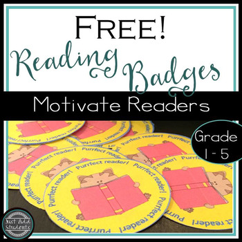 Free!  Reading Badges:  Stickers to Motivate Readers