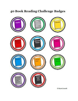 Book Badges for Reading Challenge - Gamify your classroom