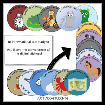 Reading Badges for Nonfiction Texts  Information Texts
