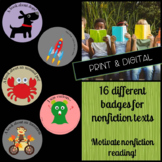 Reading Badges for Informational Texts:  Independent Reading Challenge