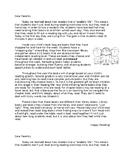 Reading Bag Parent Letter
