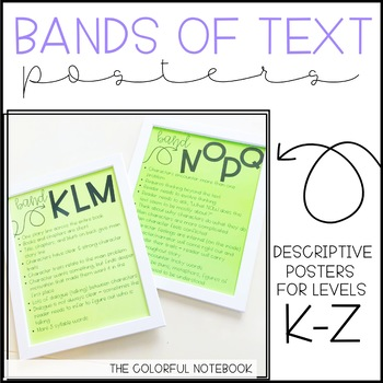 Reading Bands of Text Posters *FREEBIE*
