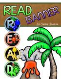 Reading Banner Classroom Decoration Bulletin Board Dinosaur Theme