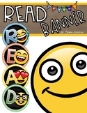 Reading Banner Classroom Decoration Bulletin Board Emoji Smiley Face Theme