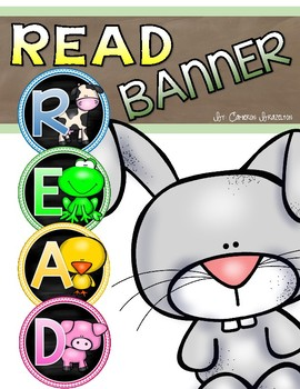 Reading Banner Classroom Decoration Bulletin Board Farm Animals Theme