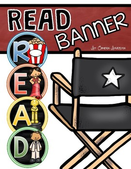 Reading Banner Classroom Decoration Bulletin Board Hollywood Movies Theme