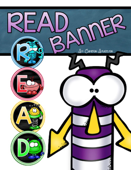 Reading Banner Classroom Decoration Bulletin Board Monster Theme