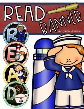 Reading Banner Classroom Decoration Bulletin Board Nautical Sailor Theme