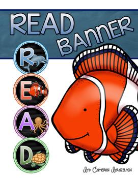 Reading Banner Classroom Decoration Bulletin Board Ocean Theme