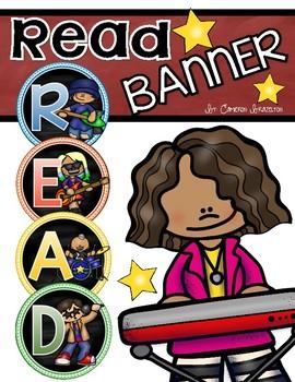 Reading Banner Classroom Decoration Bulletin Board Rockstar Rock n' Roll Theme
