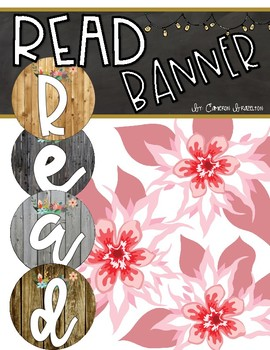 Reading Banner Classroom Decoration Bulletin Board Rustic Farmhouse Shabby Theme