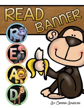 Reading Banner Classroom Decoration Bulletin Board Jungle Safari Theme
