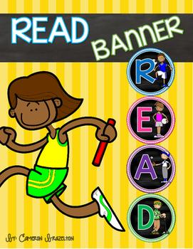 Reading Banner Classroom Decoration Bulletin Board Sports Theme