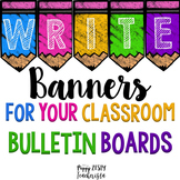 Classroom Banners for Bulletin Boards - EDITABLE