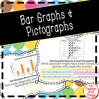 Reading Bar Graphs & Pictographs Boom Cards SOL 3.15