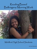 Bellringers for Middle & High School Students: Reading Based