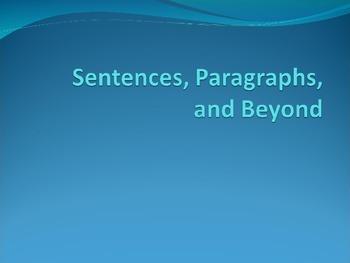 Reading Based Writing, Sentences, Paragraphs, Genres of Writing
