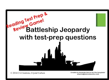 Reading Battleship Test Prep Review Game (6th grade CCSS/G