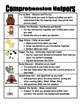 Reading Beany Baby Helpers (Decoding/Comprehension)