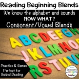 Beginning Blends Reading Consonant Vowel CV Blends