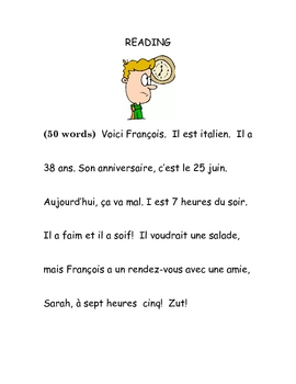Reading - Beginning French birthday