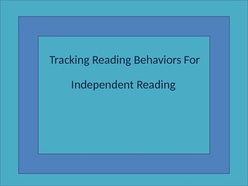 Reading Behavior Record