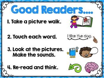 Reading Behaviors Anchor Chart