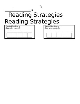 Reading Behaviors Bookmark