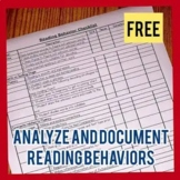Reading Behaviors Checklist