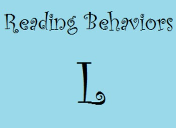 Reading Behaviors Level L