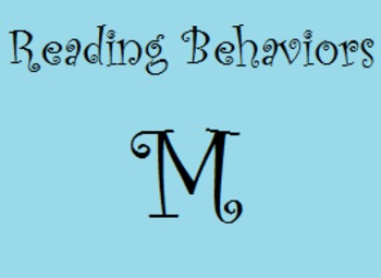 Reading Behaviors Level M