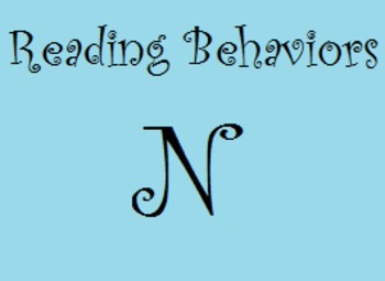 Reading Behaviors Level N