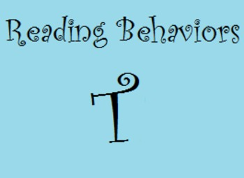 Reading Behaviors Levels S&T