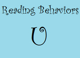 Reading Behaviors Levels U&V