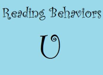 Reading Behaviors Levels U&V