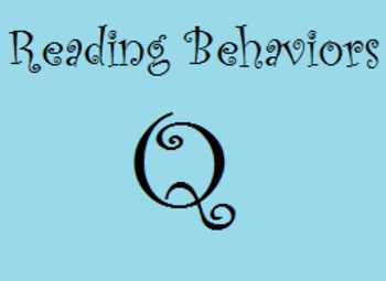 Reading Behaviors Q