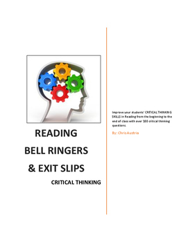 Reading Bell Ringers and Exit Slips - Critical Thinking