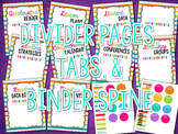 Reading Binder Dividers, Tabs, & Binder Spine {BRIGHTS}