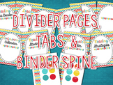 Reading Binder Dividers, Tabs, & Binder Spine {MULTI-CHEVRON}