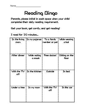Reading Bingo