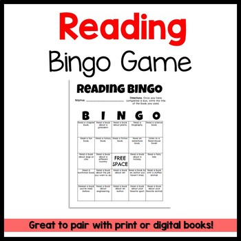 Reading Bingo FREEBIE!