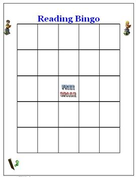 Reading Bingo Game Activity
