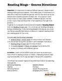 Reading Bingo - Genres - Directions