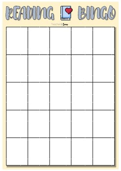 Reading Bingo (Templates) ENGLISH