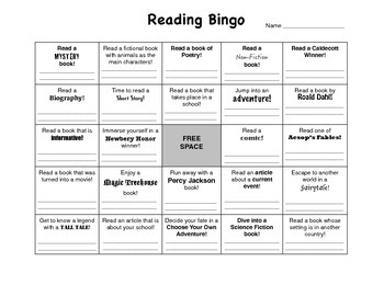 Reading Bingo with Prize Cards!