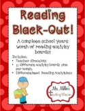Reading Black-Out! No Prep! Differentiated Reading Homewor